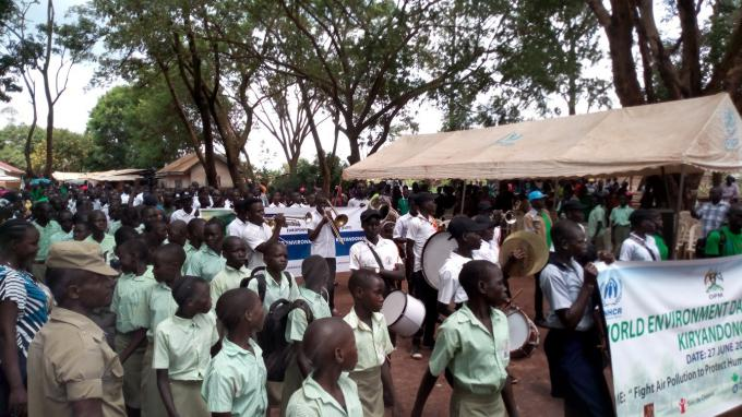 Celebrating World Environment Day in Kiryandongo. Apio Josephine / Save the Children