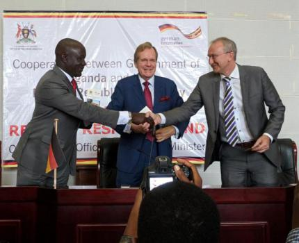 Uganda and German Governments launch 10 million Euro Refugee Response Fund enabling Save the Children to scale up support in refugee education