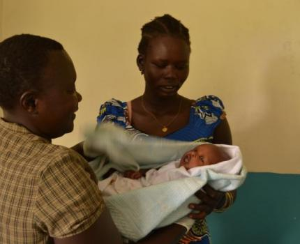 Maternal and newborn health in Nyumanzi refugee camp